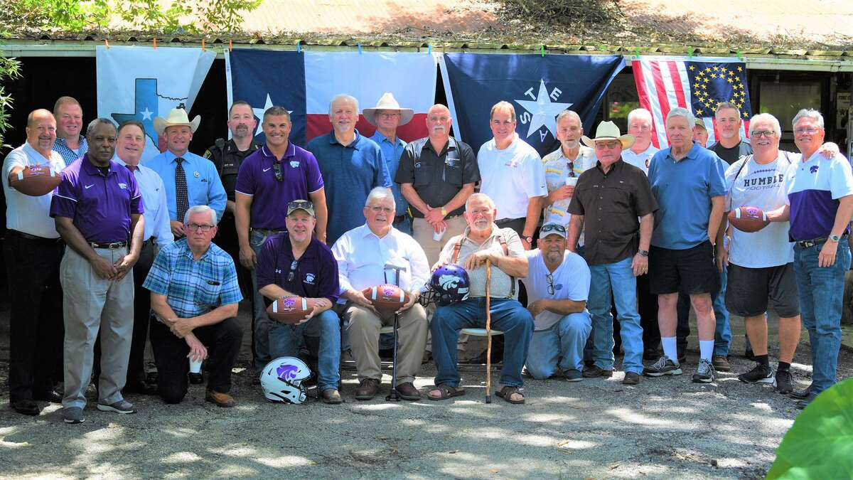 The Old Humble Bunch meets every quarter and on Aug. 21 they hosted new Humble football coach Marcus Schulz.