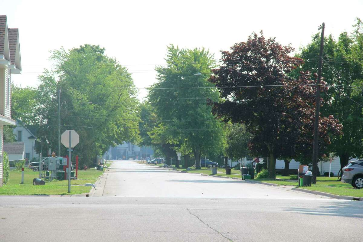 Work to replace the sewer and water main lines underneath it will take place onHartley Street in Pigeon next year. The state will pay for 50% of the project costs thanks to a grant from MDOT's Economic Development Fund. (Robert Creenan/Huron Daily Tribune)