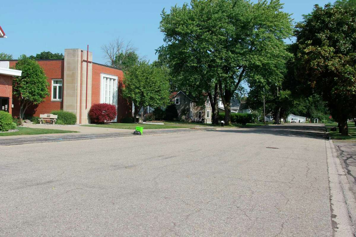 Work to replace the sewer and water main lines underneath it will take place onNorth Franklin Street in Pigeon next year. The state will pay for 50% of the project costs thanks to a grant from MDOT's Economic Development Fund. (Robert Creenan/Huron Daily Tribune)