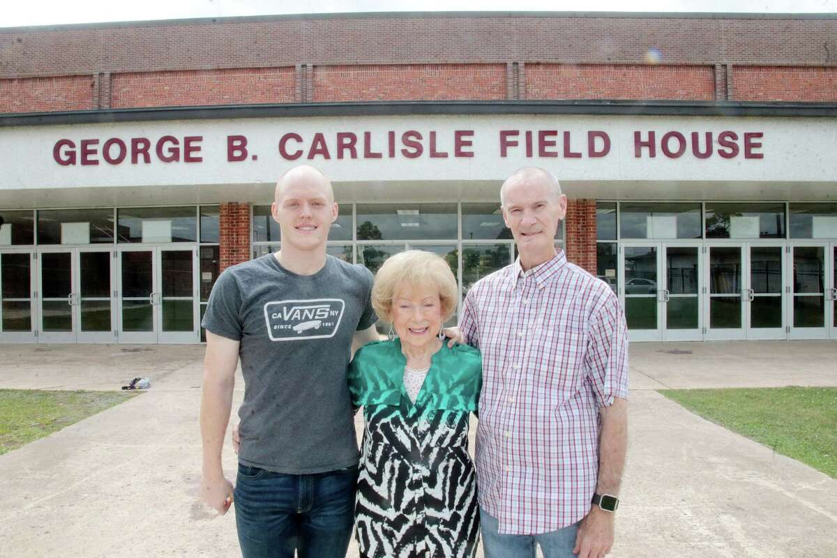 Representing three generations of the Carlisle Family are (left to right) Weston Carlisle (son of Billy Carlisle and brother of Buddy), Peggy Carlisle (George's wife) and Buddy Carlisle.