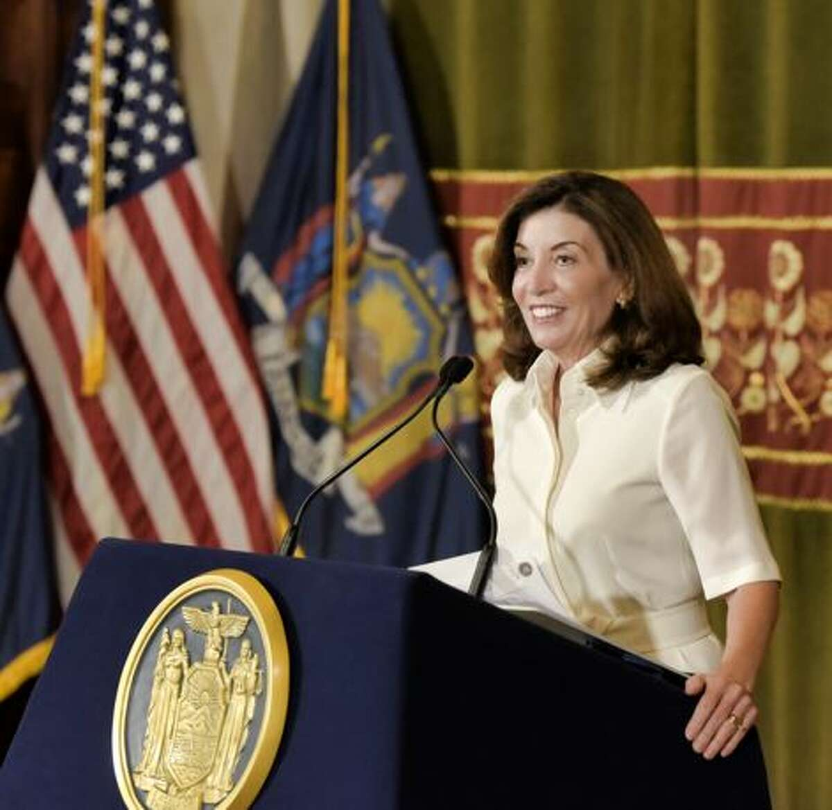 Gov. Kathy Hochul says a state Covid relief program for small businesses has been expanded.