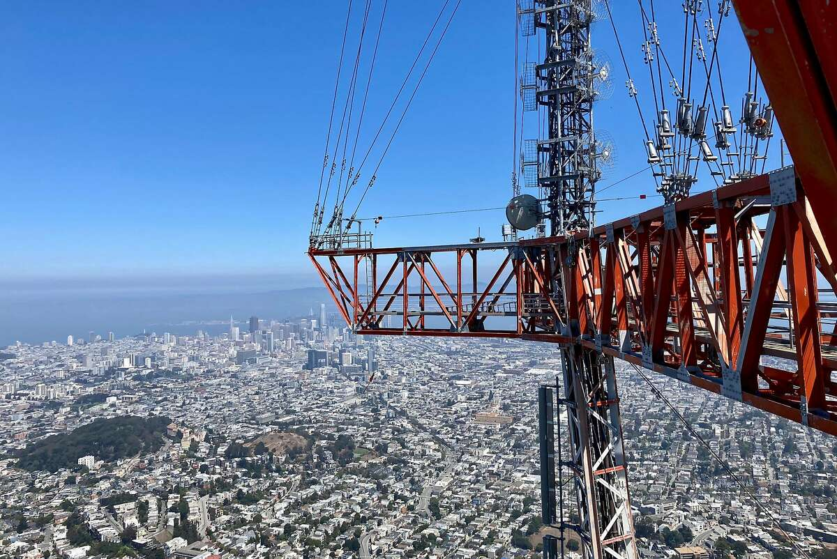 San Francisco seen from the top of Sutro Tower on Aug. 26, 2021.