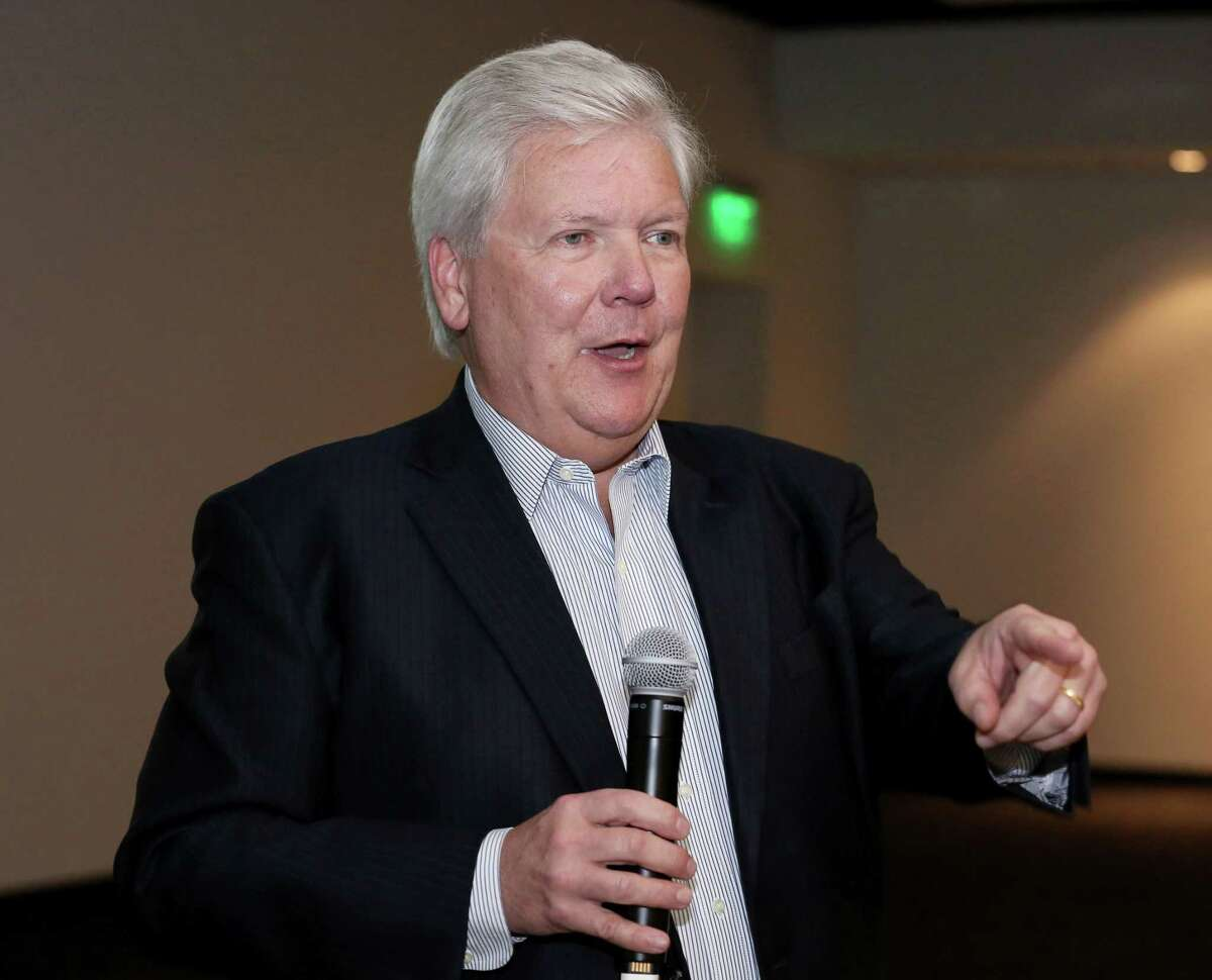 President & Publisher John McKeon speaks during a town hall meeting Friday, Oct. 14, 2016, in Houston.