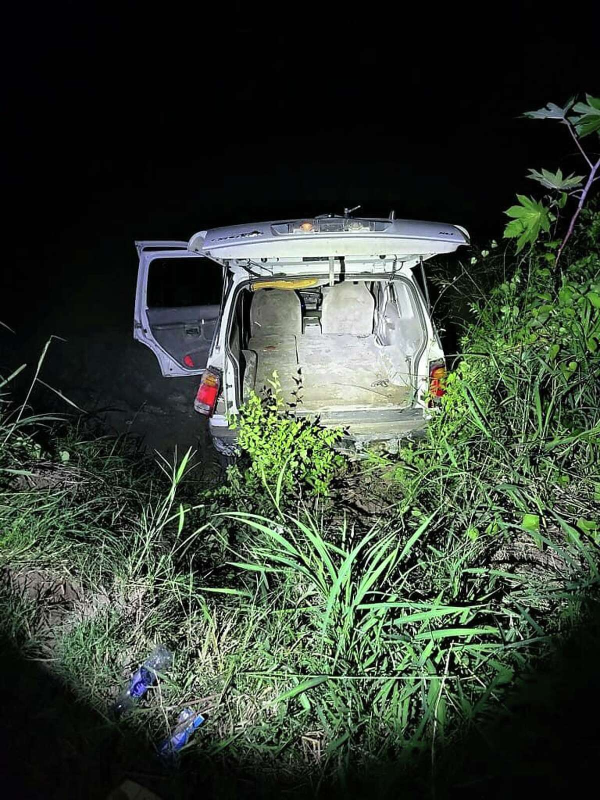 U.S. Border Patrol agents said this vehicle went into the Rio Grande in El Cenizo. Authorities recovered two bundles of marijuana weighing 160 pounds. The contraband had an estimated street value of $134,000.