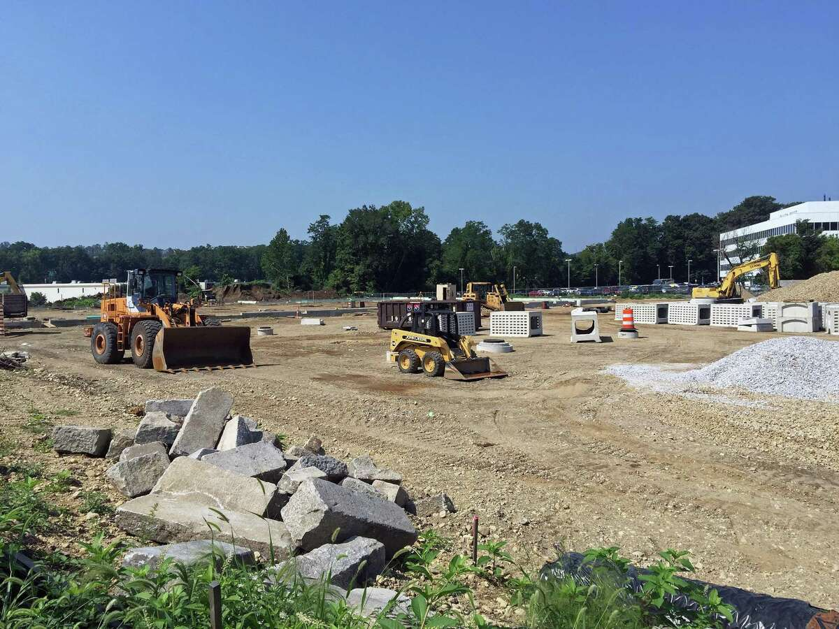 The construction site at 102 Mill Plain Road in Danbury, where a new Caraluzzi's Danbury Market and Wine & Spirits store are planned. Aug. 26, 2021.