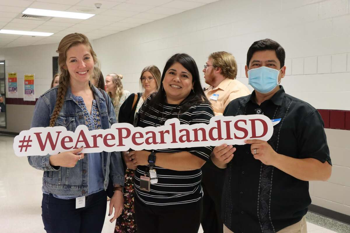 New Pearland Independent School District educators kick off the 2021-2022 school year during an Aug. 3 orientation.