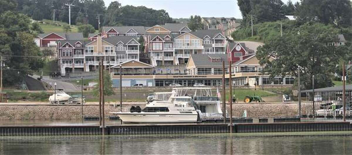 The Grafton Marina and some of the tourism-related development overlooking the river were among the highlights of a riverboat cruise Wednesday by about 80 local and state politicians, business owners and others to promote nature-based tourism along the Great Rivers National Scenic Byway, which extends from Hartford north into Jersey County.
