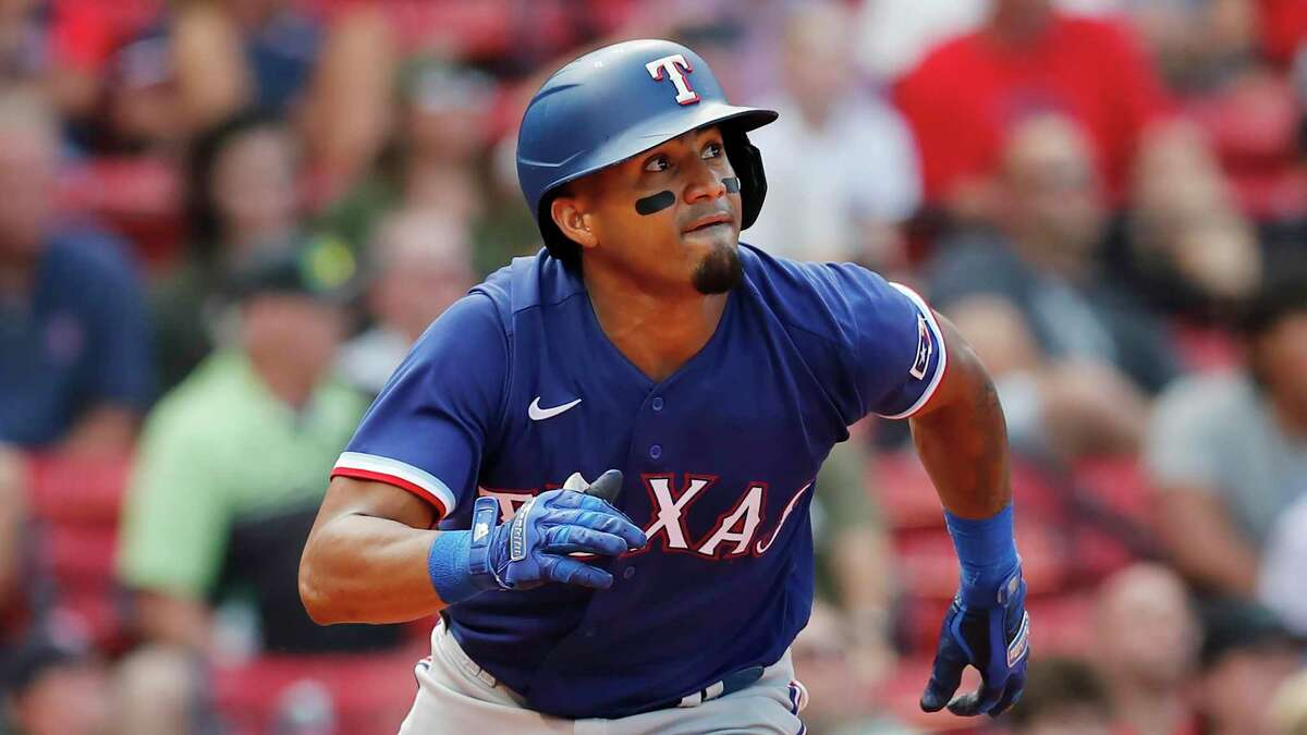 Andy Ibanez, one of a club-record 24 rookies the Rangers have played this season, brings a 10-game hitting streak into this weekend's series against the Astros.
