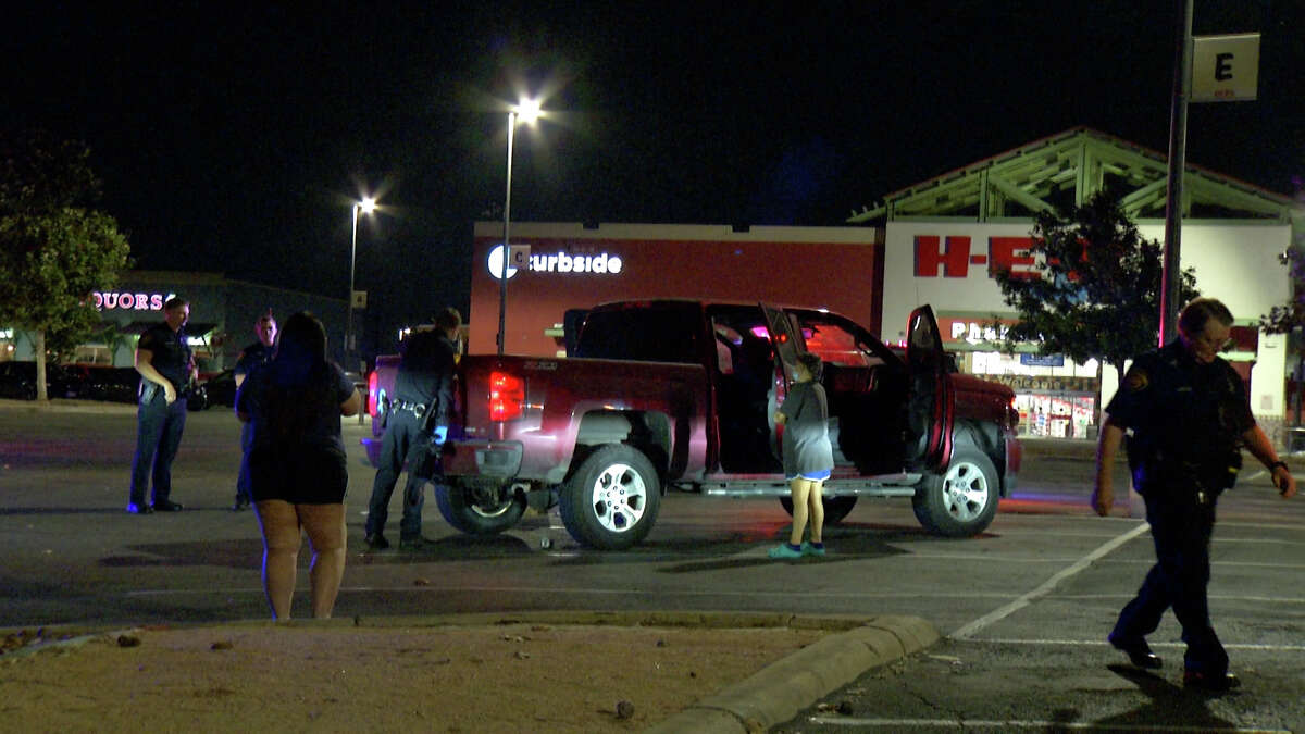 A 31-year-old man was hospitalized after he was shot multiple times early Friday morning while driving on the Southeast Side with his family, San Antonio police said.