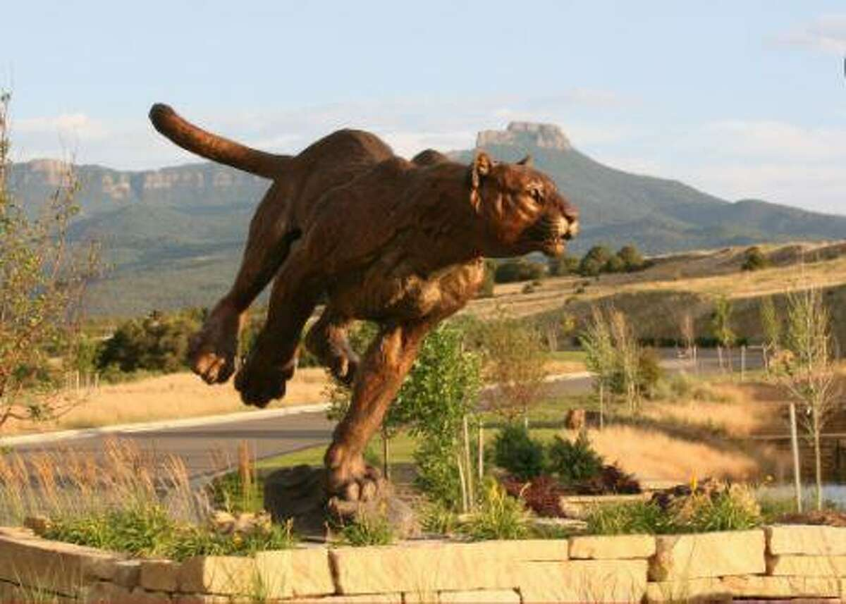 """""""Turning Point,"""" the new cougar statue planned to be placed in front of Tomball High School."""