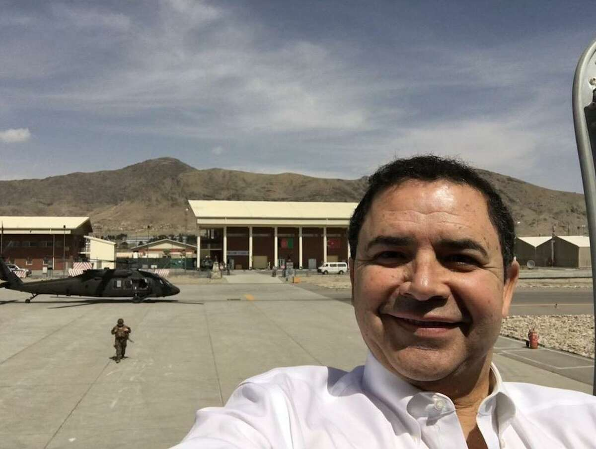 Rep. Henry Cuellar is pictured during his visit to the Middle East in 2018.