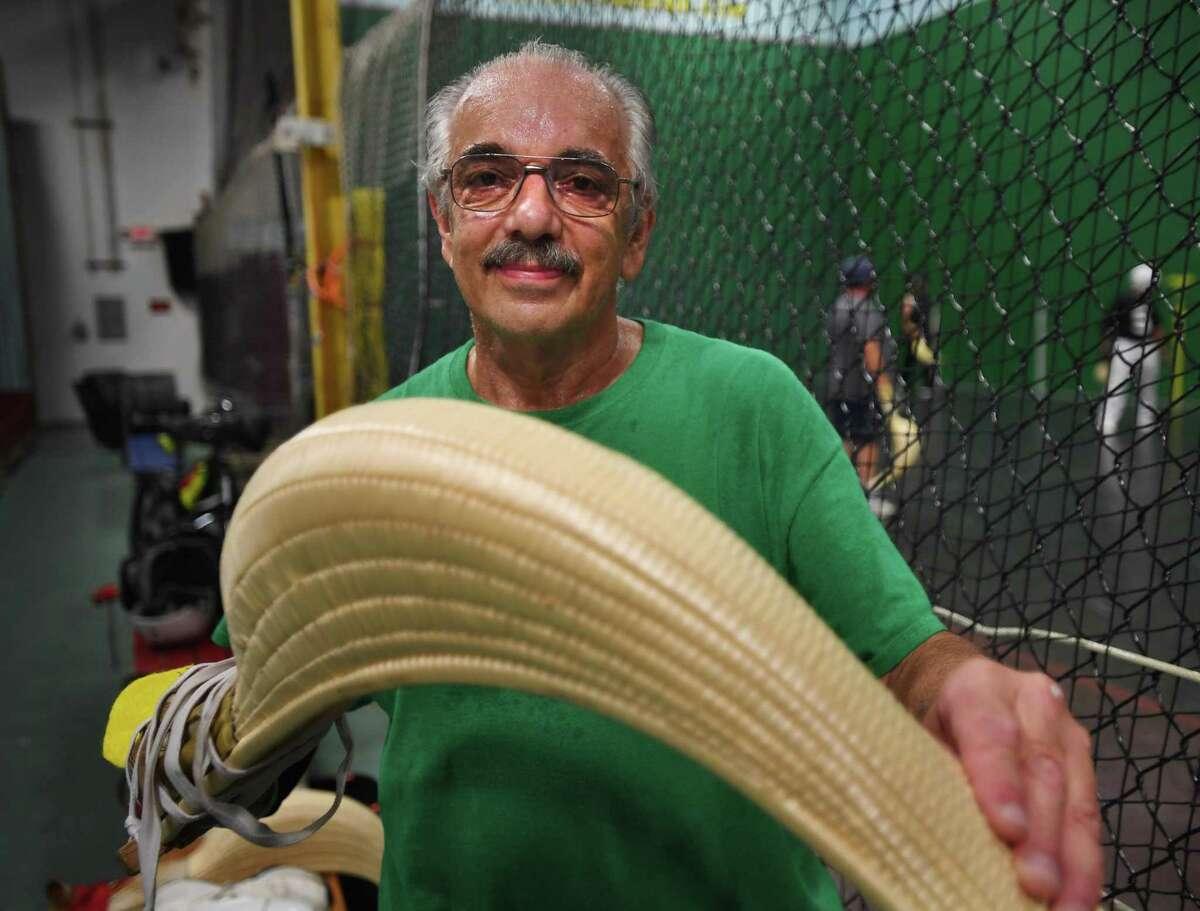 Bob Savarese, 73, of Milford, is an avid Jai Alai player at Connecticut Amateur Jai Alai in Berlin.