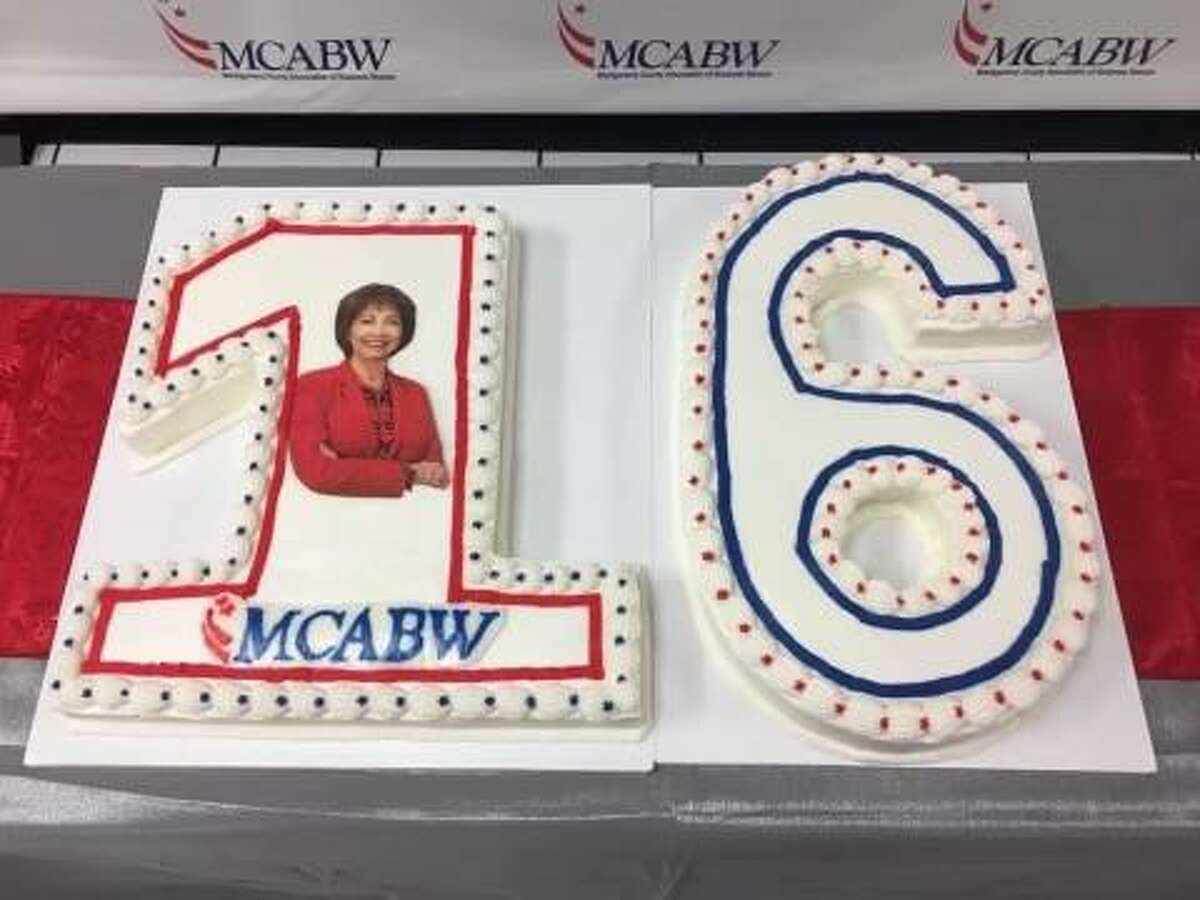 On Tuesday, the Montgomery County Association of Business Women celebrated their 16th birthday at Incredible Pizza in Conroe. The group's mission is to help women in business grow personally and professionally through networking. The special cake was made by Sue Walling.