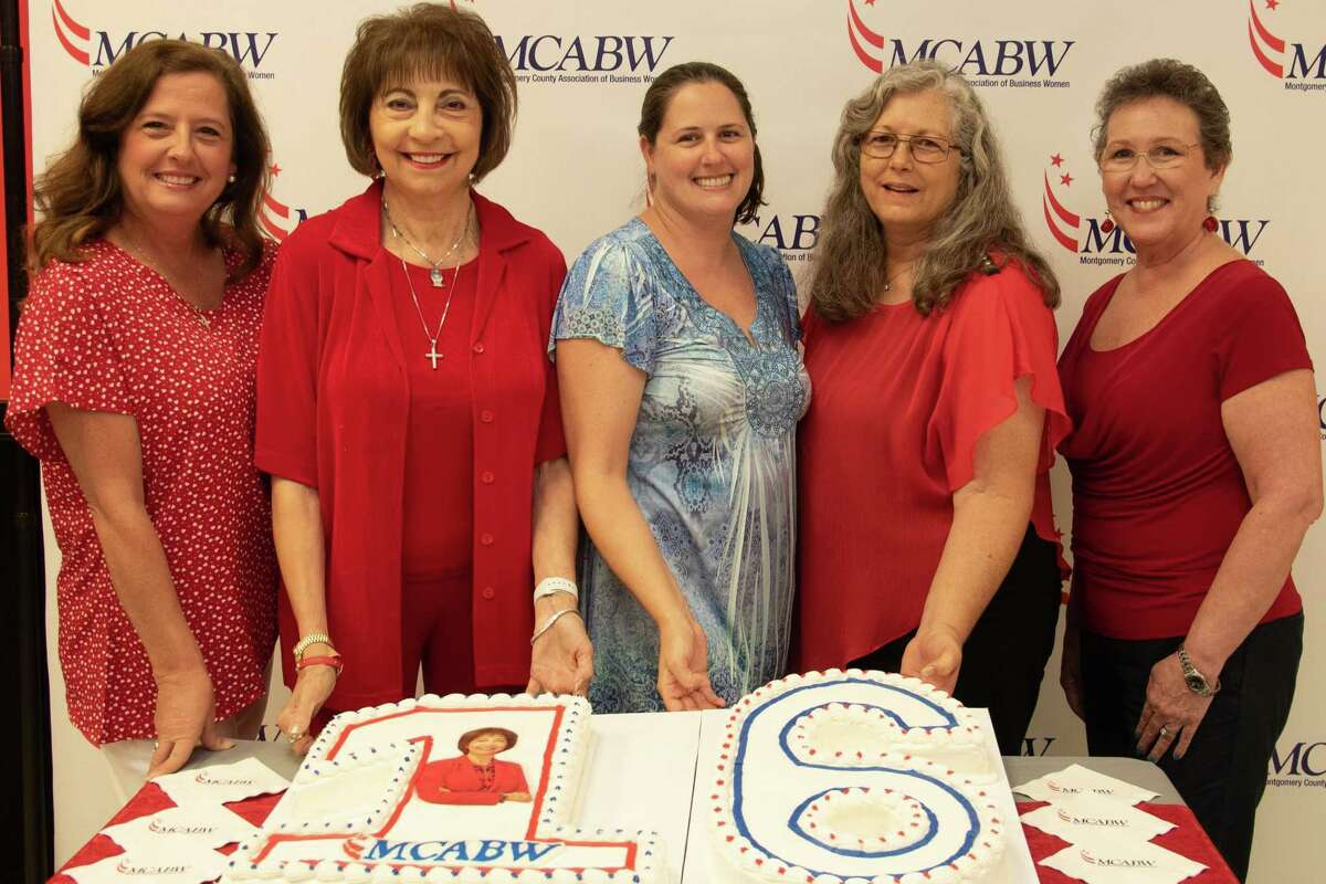 On Tuesday, the Montgomery County Association of Business Women celebrated their 16th birthday at Incredible Pizza in Conroe. The group's mission is to help women in business grow personally and professionally through networking. Pictured are members of the executive board for the group.