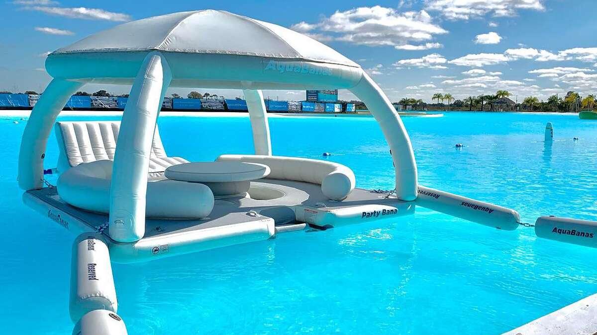 """Aquabanas"" are the newest amenity at Texas City's Crystal Clear Lagoon."