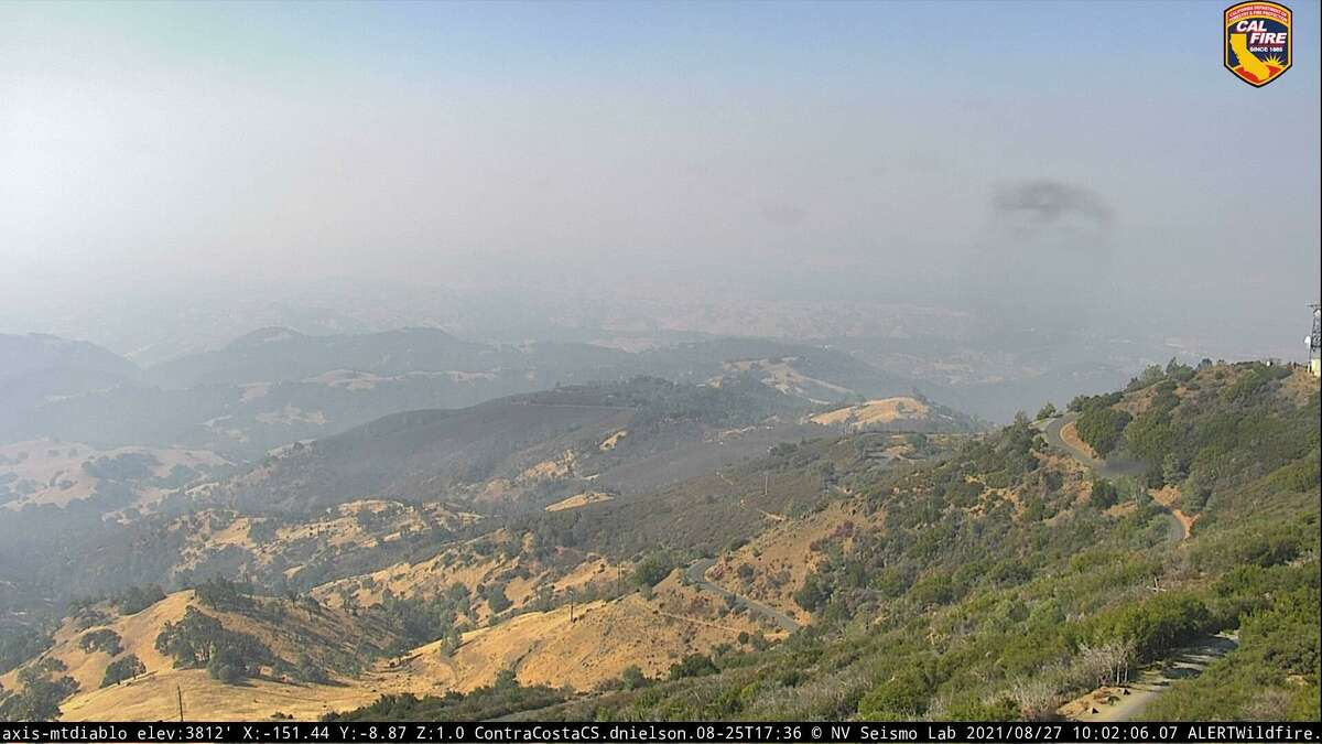 The view Friday from the Alert Wildfire network's remote camera on Mount Diablo.