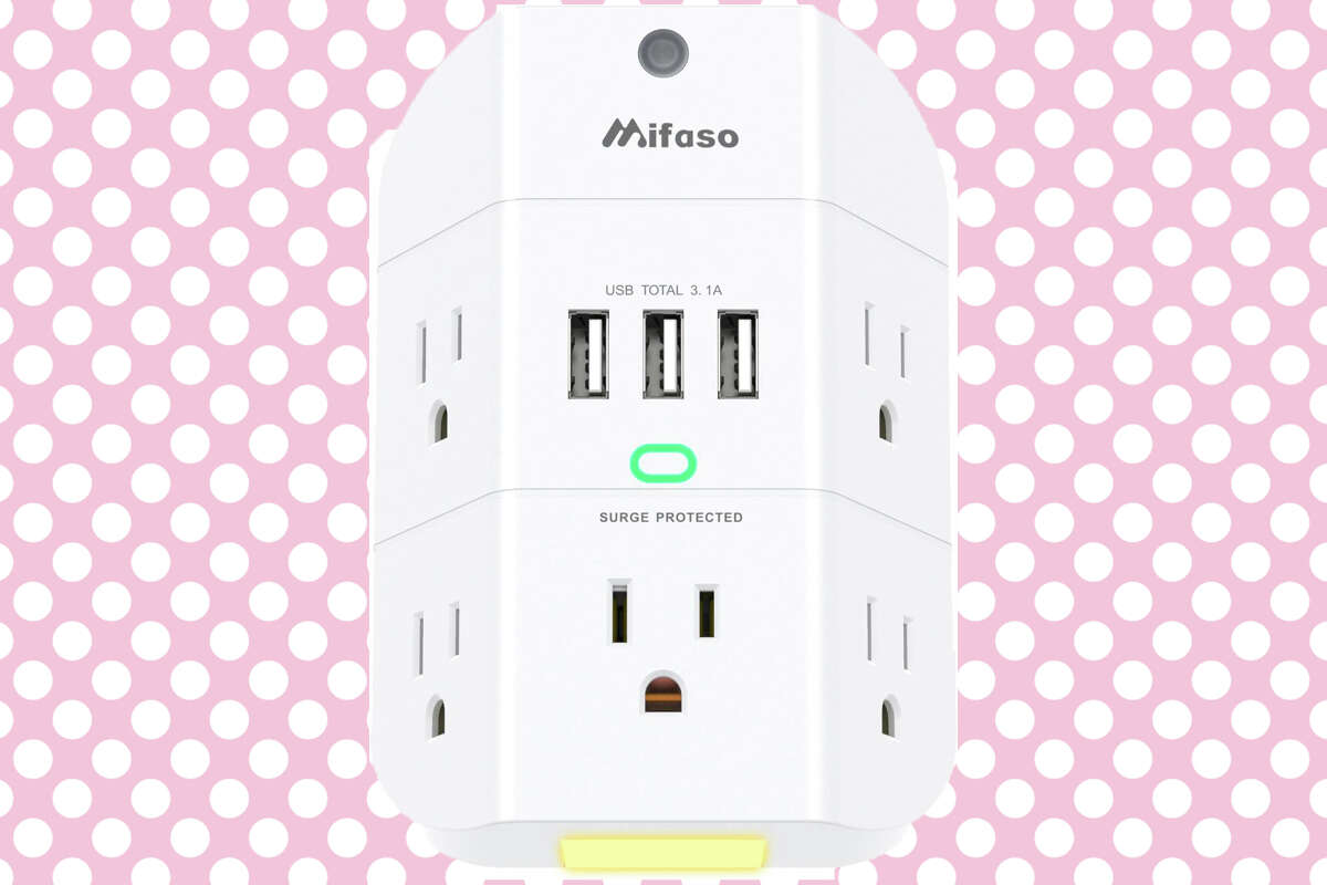 5-outlet, 3-USB surge protector