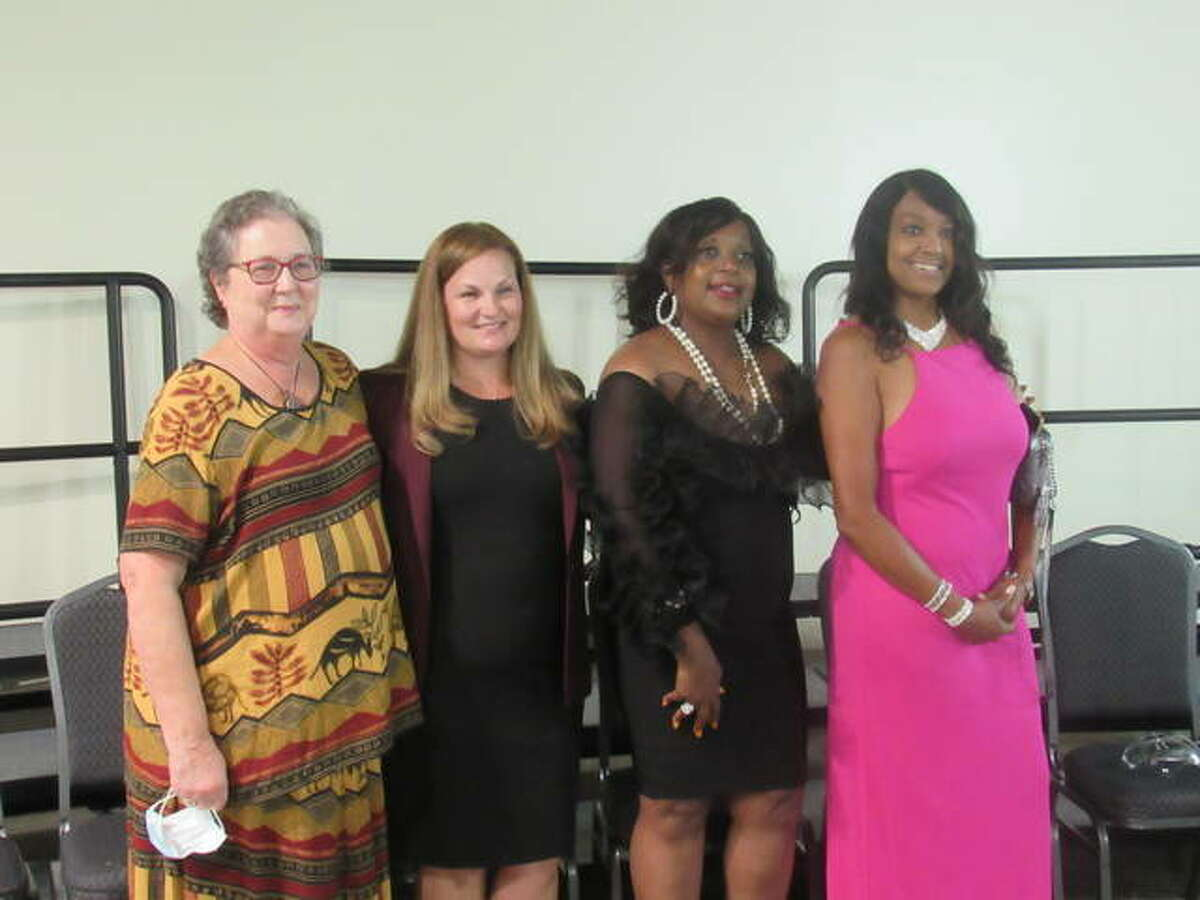 Honorees from the 2020 Women of Distinction class included, from left, Nancy Berry, Rachelle Aud Crowe, Rosetta Brown and Kendra Stiff. Not pictured are Wendy Adams, Monica Ellebracht, Olivia Ann Ervin, Angela Gray, Lisa Renee Hayes, Sherry McCrady, Robyne O'Mara and Virginia Woulfe-Beile.