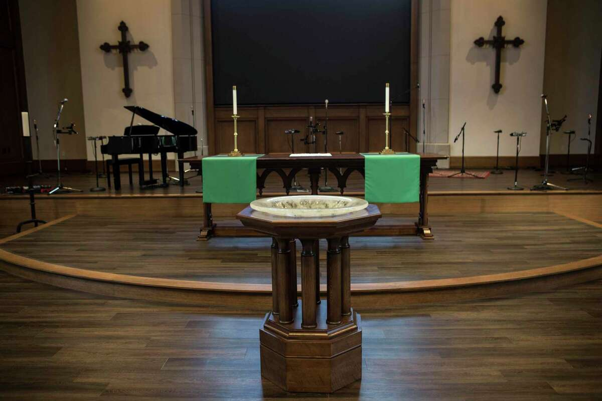 The altar in St. Martin's Episcopal Church's new Parish Life Center.