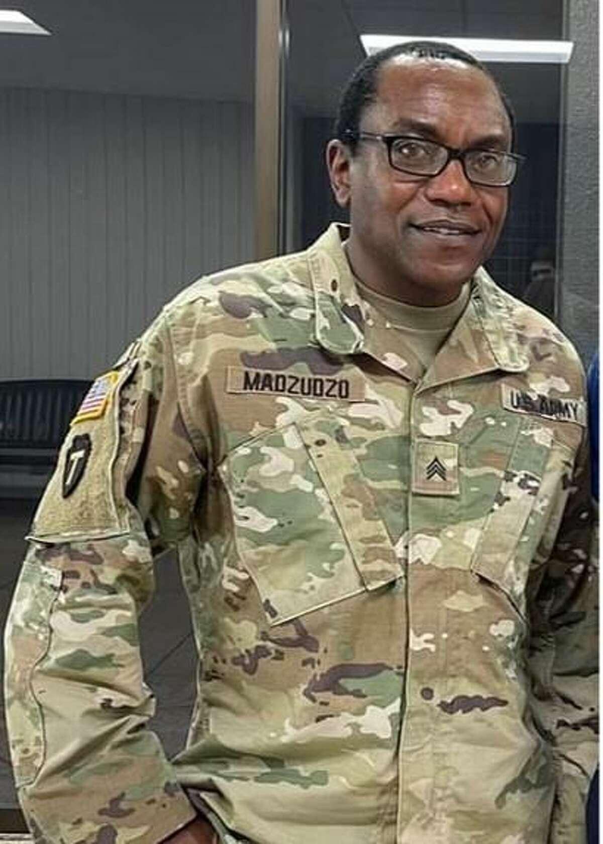 Sgt. Reggis Madzudzo, 52, of Boerne, died Tuesday of COVID-19, the Texas National Guard said.