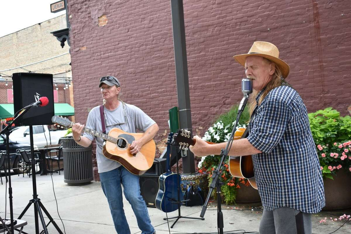On Aug. 27, the acoustic band Poppa Fish entertained crowds under cloudy skies and in balmy weather during the summer Pocket Park Music Series in downtown Big Rapids.