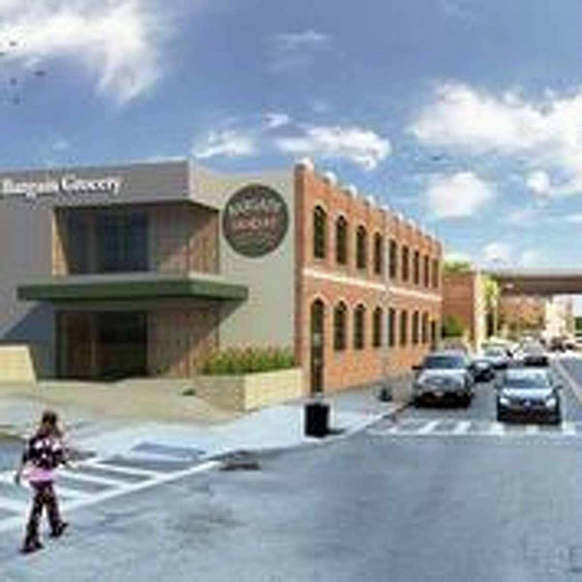 Rendering of proposed Bargain Grocery building at 558 River St. in Troy N.Y