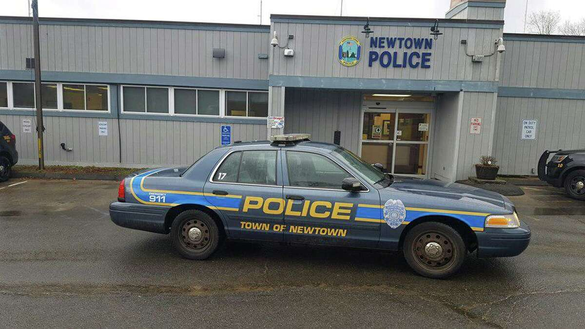 The former Newtown Police Department building in Newtown, which town leaders are looking to sell.
