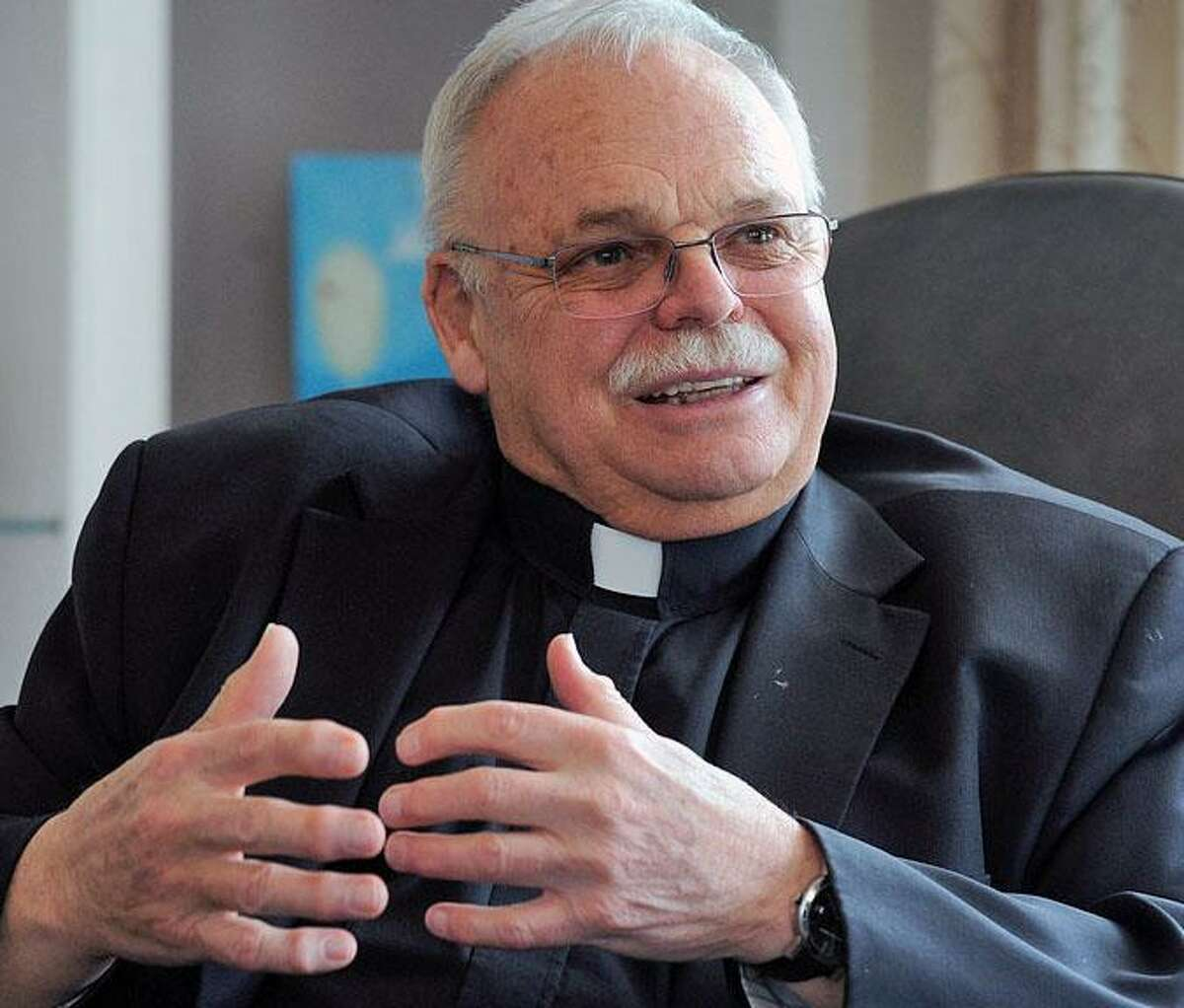 Monsignor Robert Weiss, pastor of St. Rose of Lima Church in Newtown