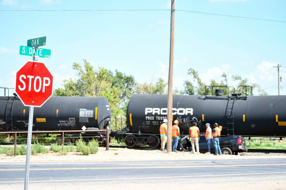 Plainview emergency personnel responded to a crash involving a train and a pickup truck at Oak and S. Date Street on Aug. 27.
