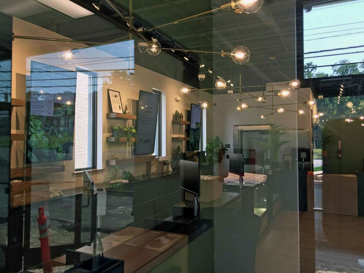 The new interior of The Botanist in Danbury, the city's first medical marijuana dispensary, due to open on Mill Plain Road. Aug. 26, 2021.