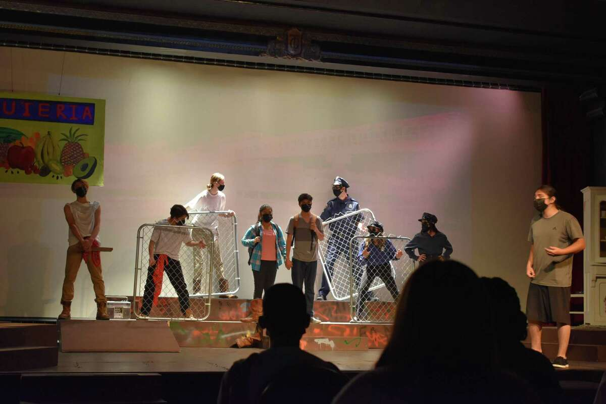 """A scene from the play """"Tafolla Toro: Three Years of Fear,"""" performed by students of CAST schools in San Antonio this week."""