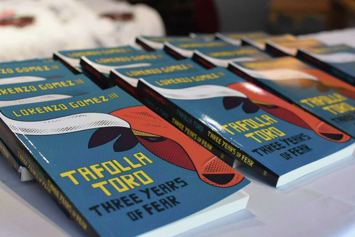 """Lorenzo Gomez III's book, """"Tafolla Toro: Three Years of Fear,"""" has been adapted for the stage by CAST School students in collaboration with the author."""