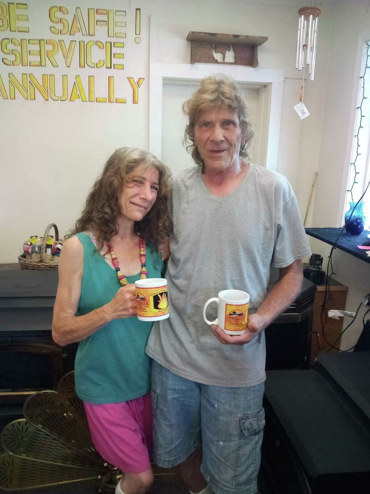 Robbin and David Dillon opened Dillon's Pellet Stoves Aug. 28. The couple sells and services several lines of stoves, as well as fuel.