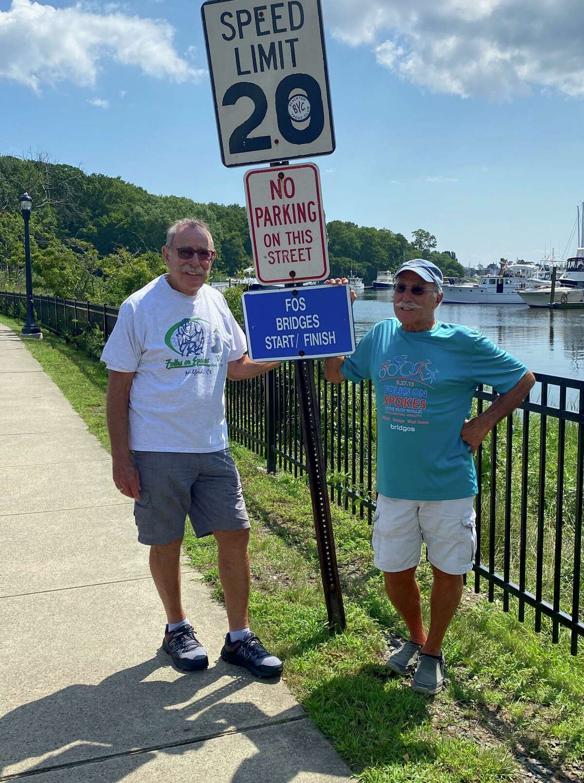 Event founders, Al Diamond and Ray Vitali are Grand Marshals of 30th anniversary of the Folks on Spokes Ride/Step Forward Walk Fundraiser. The fundraiser, to support Bridges Healthcare's mental health and addiction recovery services is on Oct. 3.