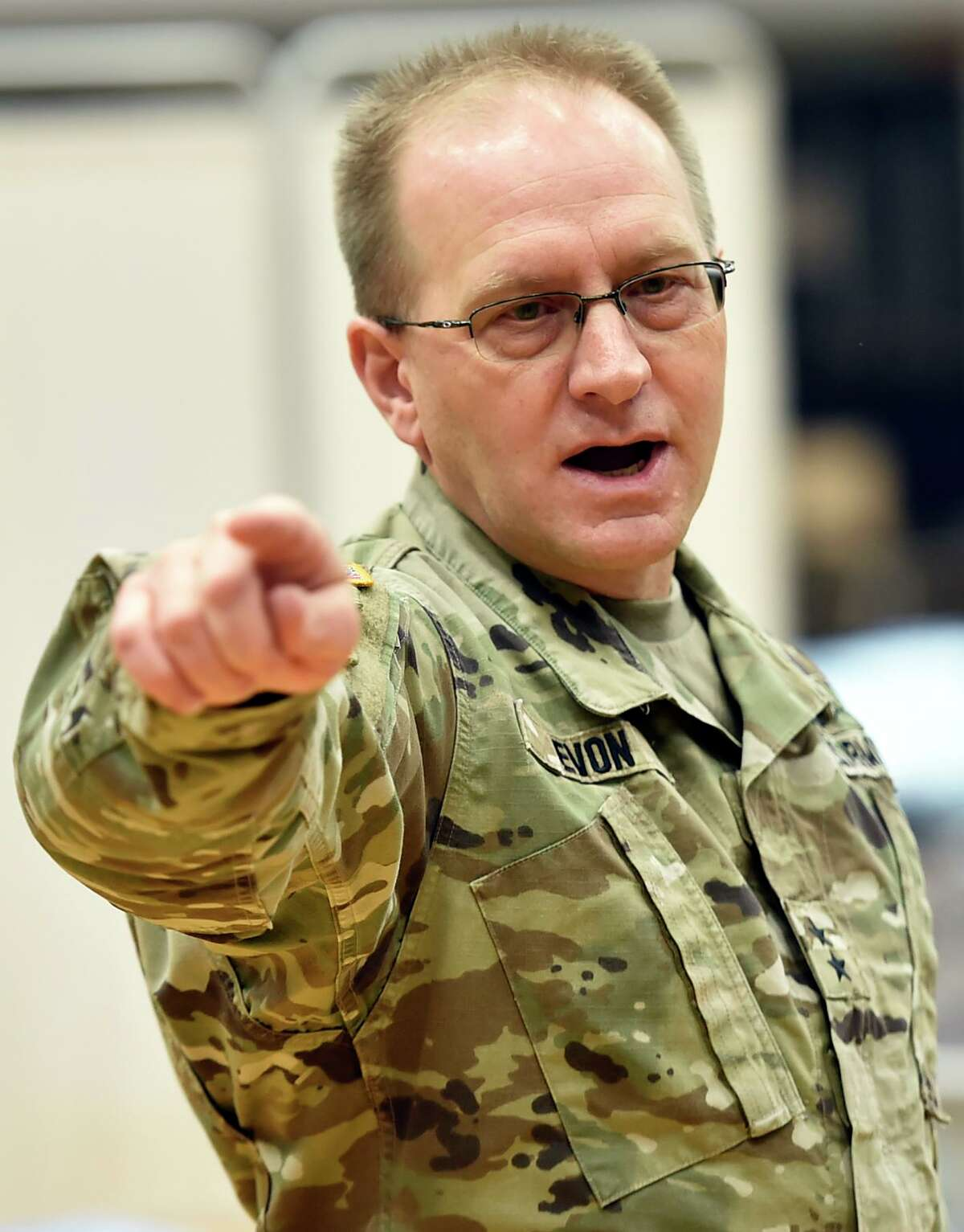 Major General Francis Evon, the Connecticut National Guard's adjutant general