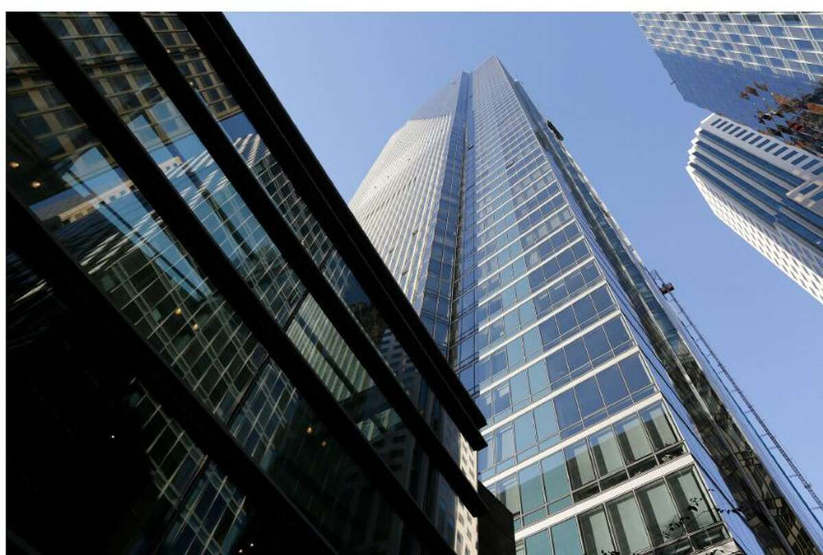 City inspectors visited Millennium Tower in downtown San Francisco on Aug. 27, 2021 where a $100 million fix has been paused due to new settlement.