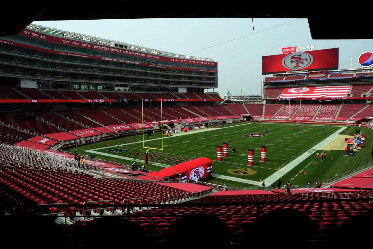 The empty stadium minutes before gametime as the San Francisco 49ers played the Arizona Cardinals at Levi's Stadium in Santa Clara, Calif., on Sunday, September 13, 2020.