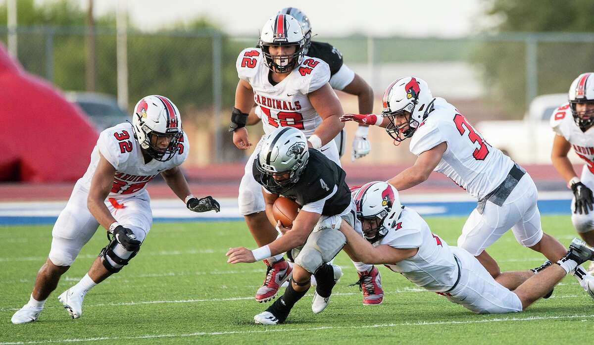 Brandon Benavides was held to 11 yards on 11 carries as United South fell 34-10 to Harlingen at the SAC on Friday.