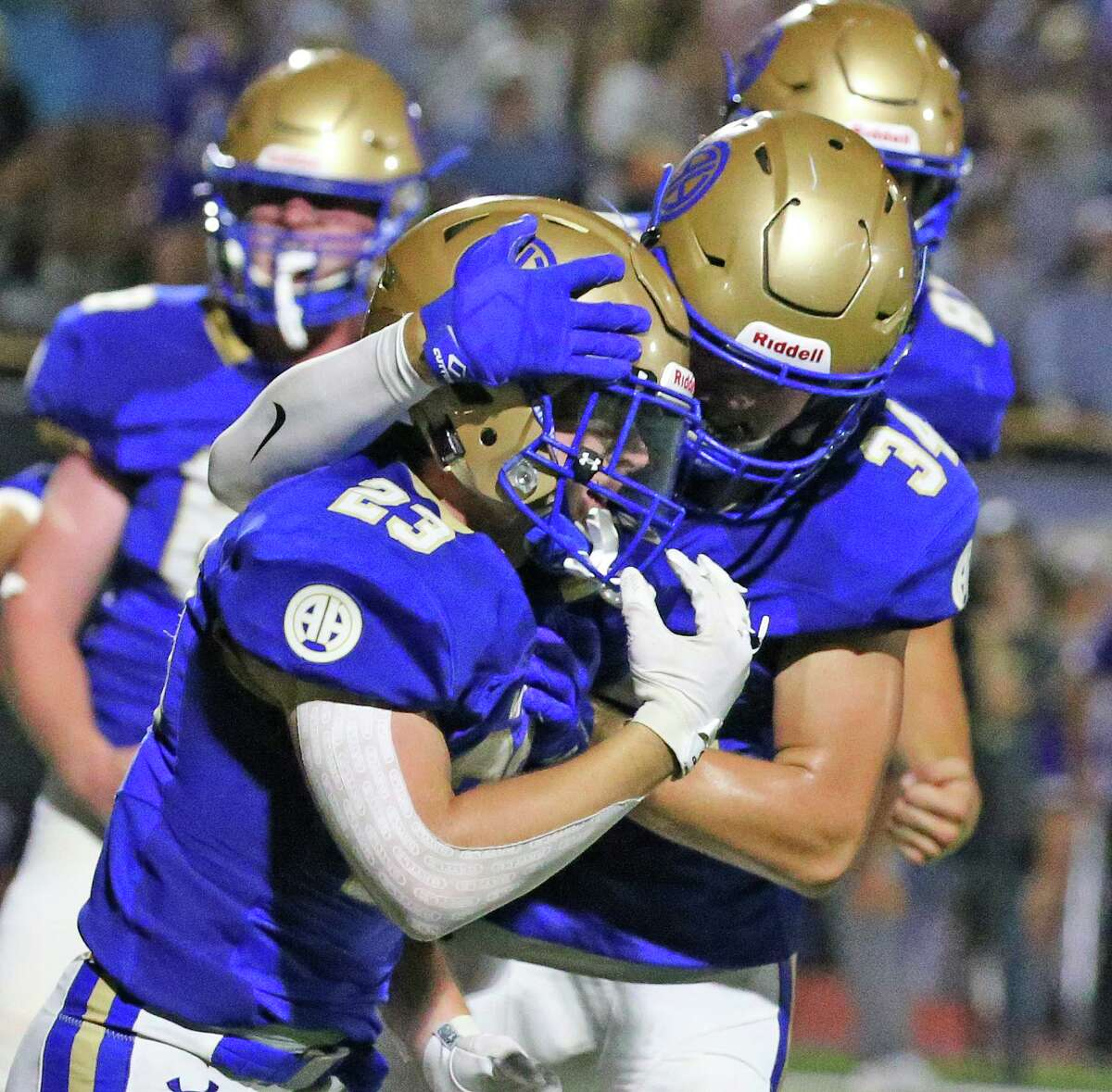 Running back George Flesher (23) and Alamo Heights will be looking to record the school's first 3-0 start since 2018 - when it opened 7-0 - on Friday.