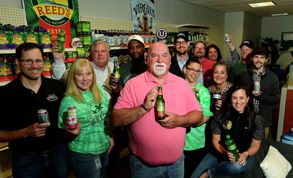 CEO of Reed's, the ginger beer/root beer/craft soda maker, Norm Snyder, at the company headquarters Thursday, August 26, 2021. in Norwalk, Conn. that relocated its HQ to Norwalk a few years back and has struggled since to get any momentum after going over to outsourced production. Snyder is a SoBe beverage alum.