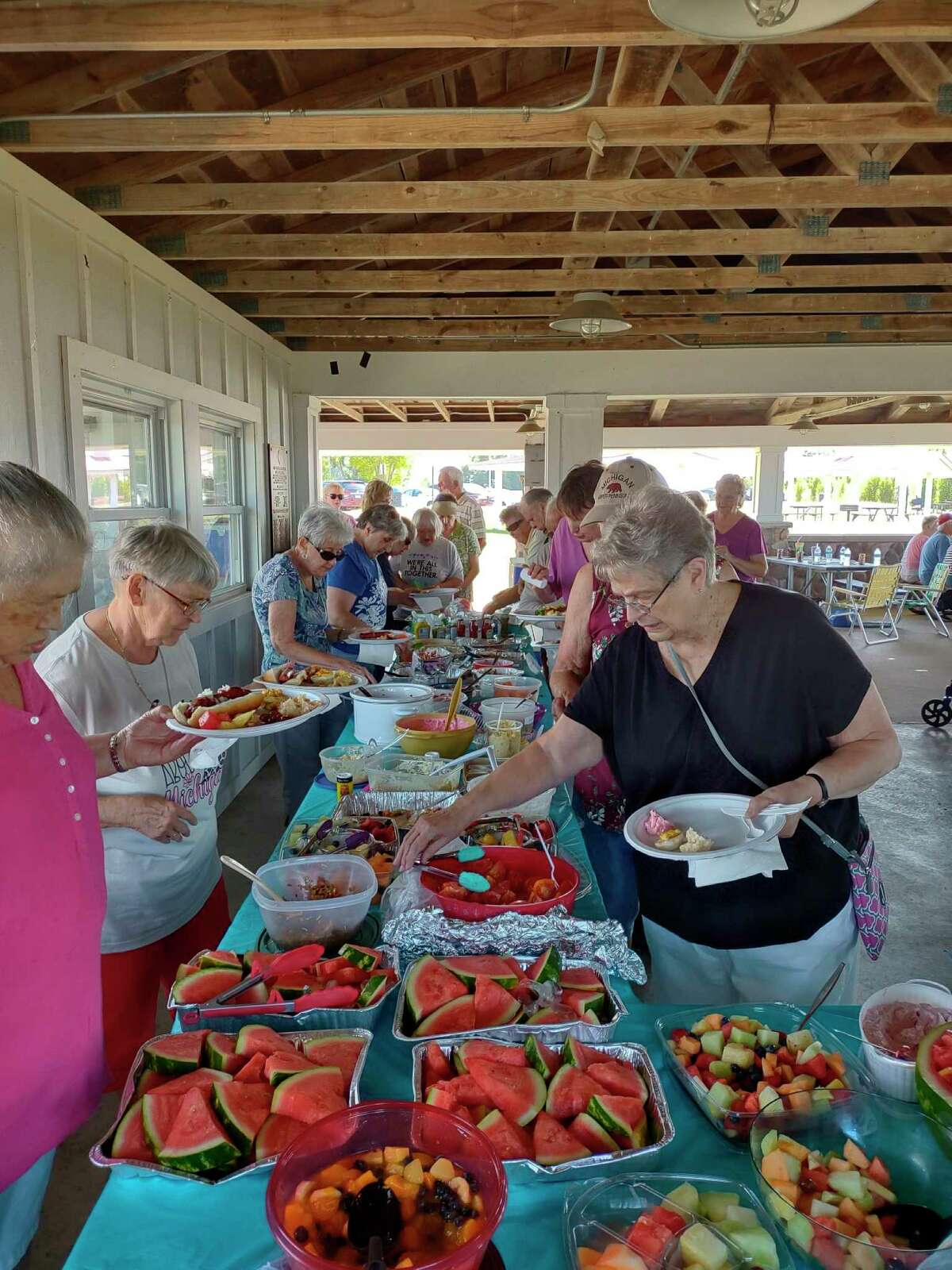 The annual senior center summer picnic was held this week on Aug. 23. (Courtesy Photo)