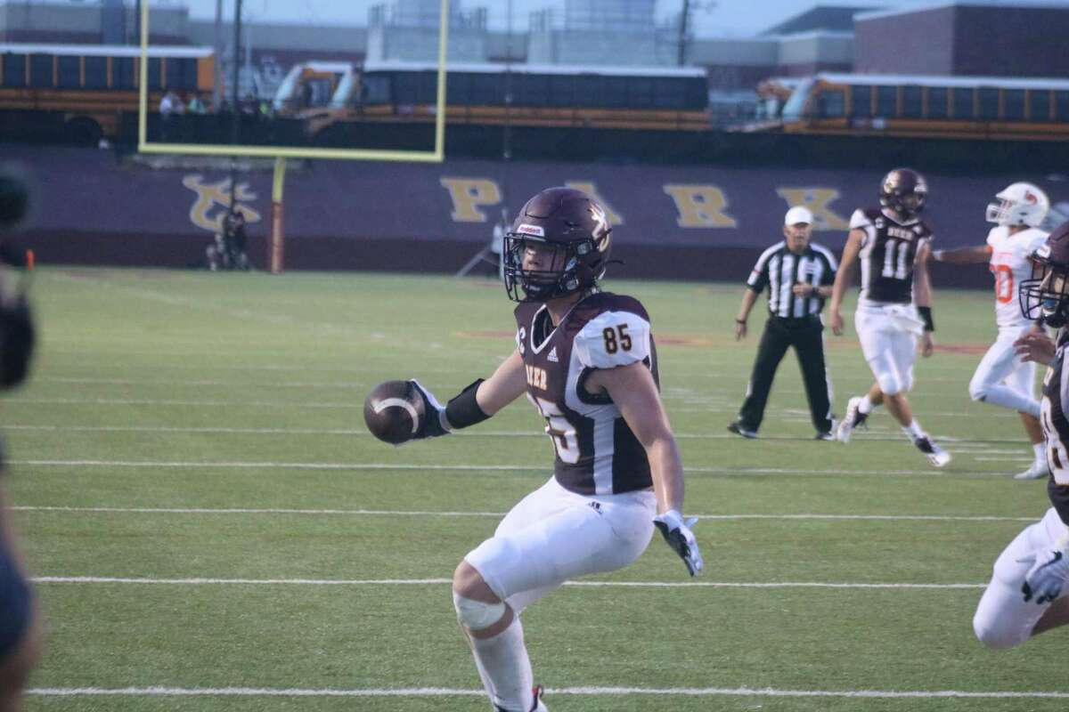 Tight end Gavin Howard scores Deer Park's third touchdown during a 21-point second quarter Friday night.