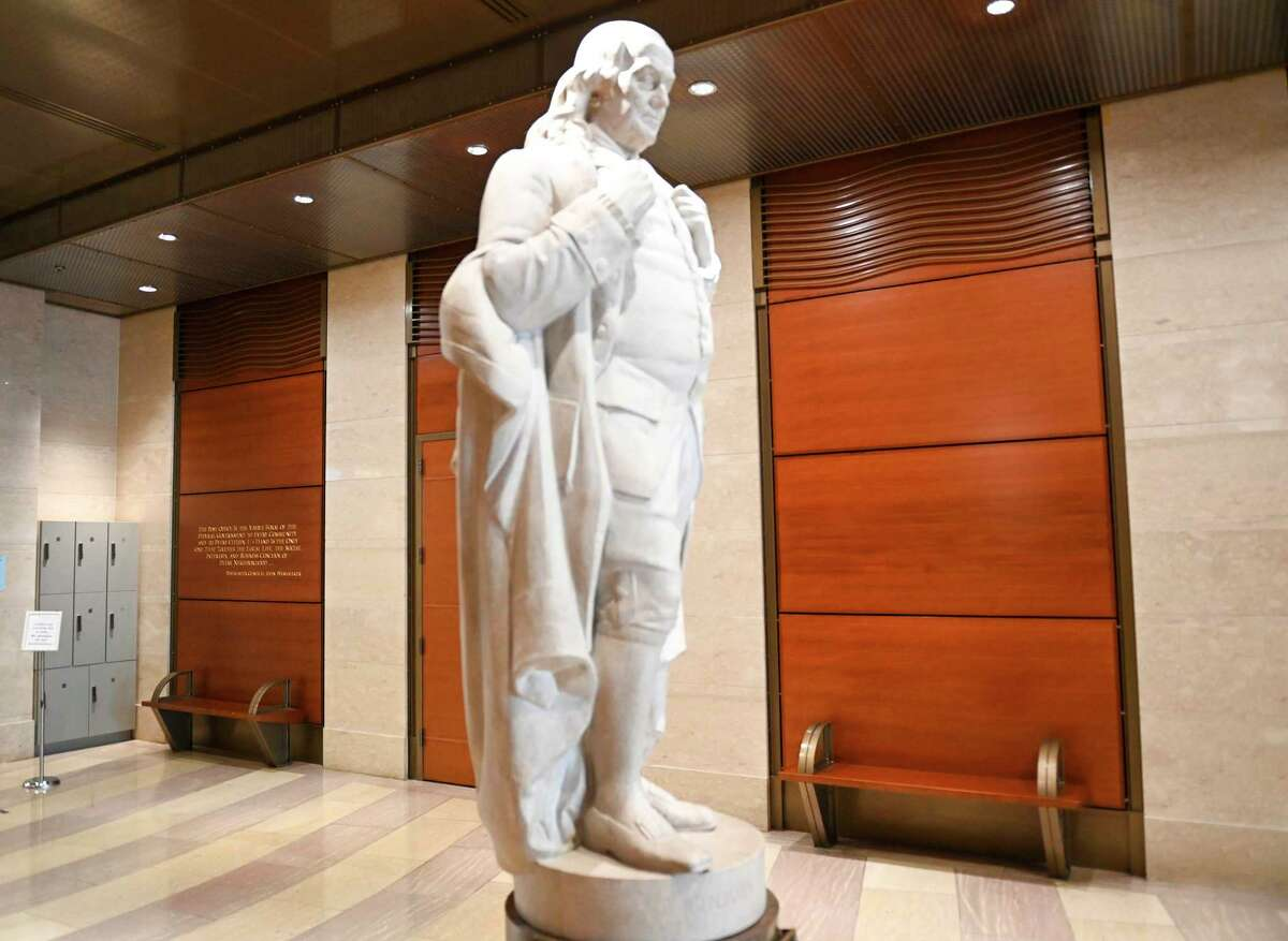 While the National Postal Museum in Washington was closed for the coronavirus, it removed a quote from slavery proponent John C. Calhoun near a statue of Benjamin Franklin.