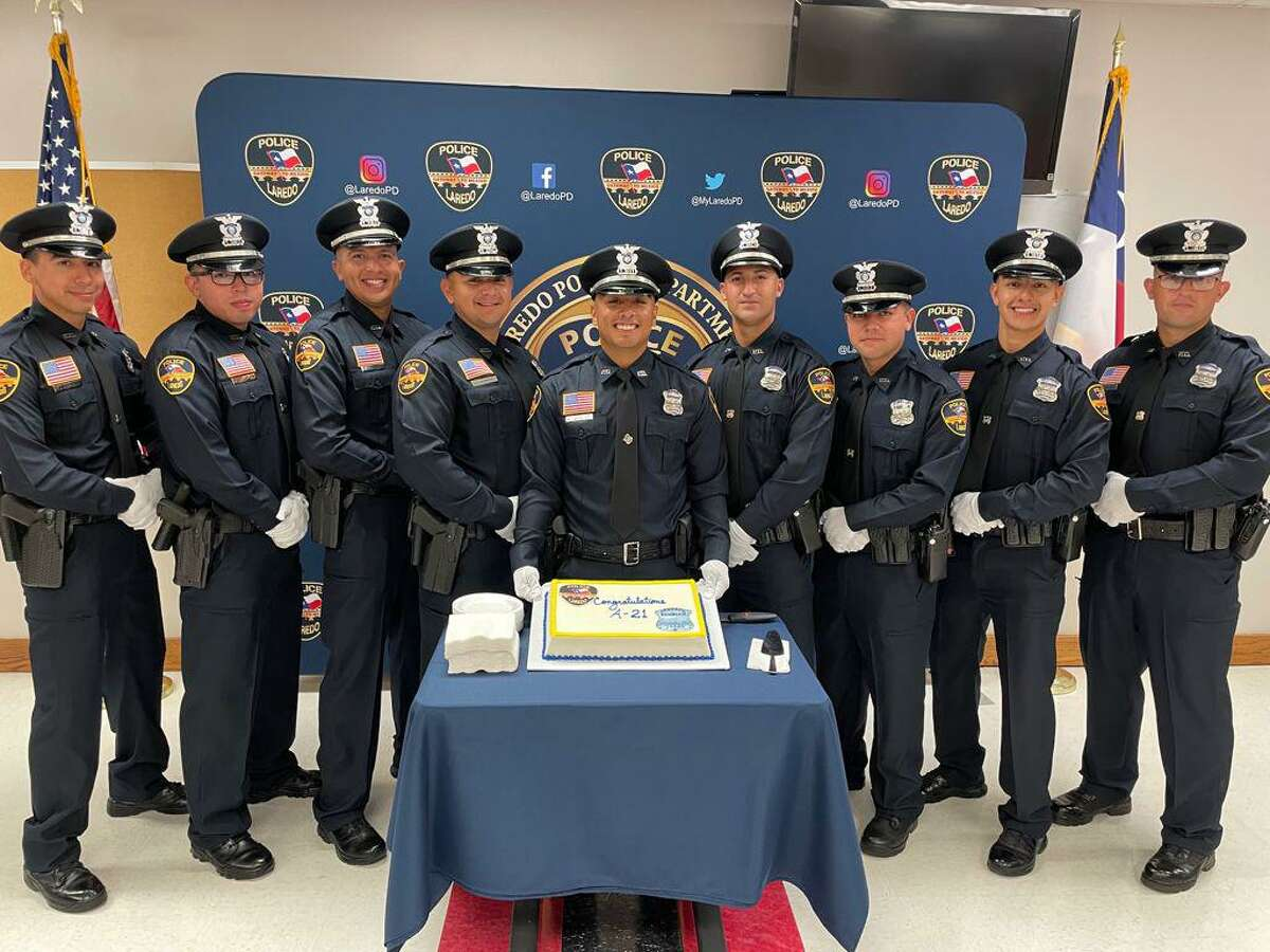 These are the nine cops Laredo police welcomed into their blue family during a graduation ceremony on Friday morning.