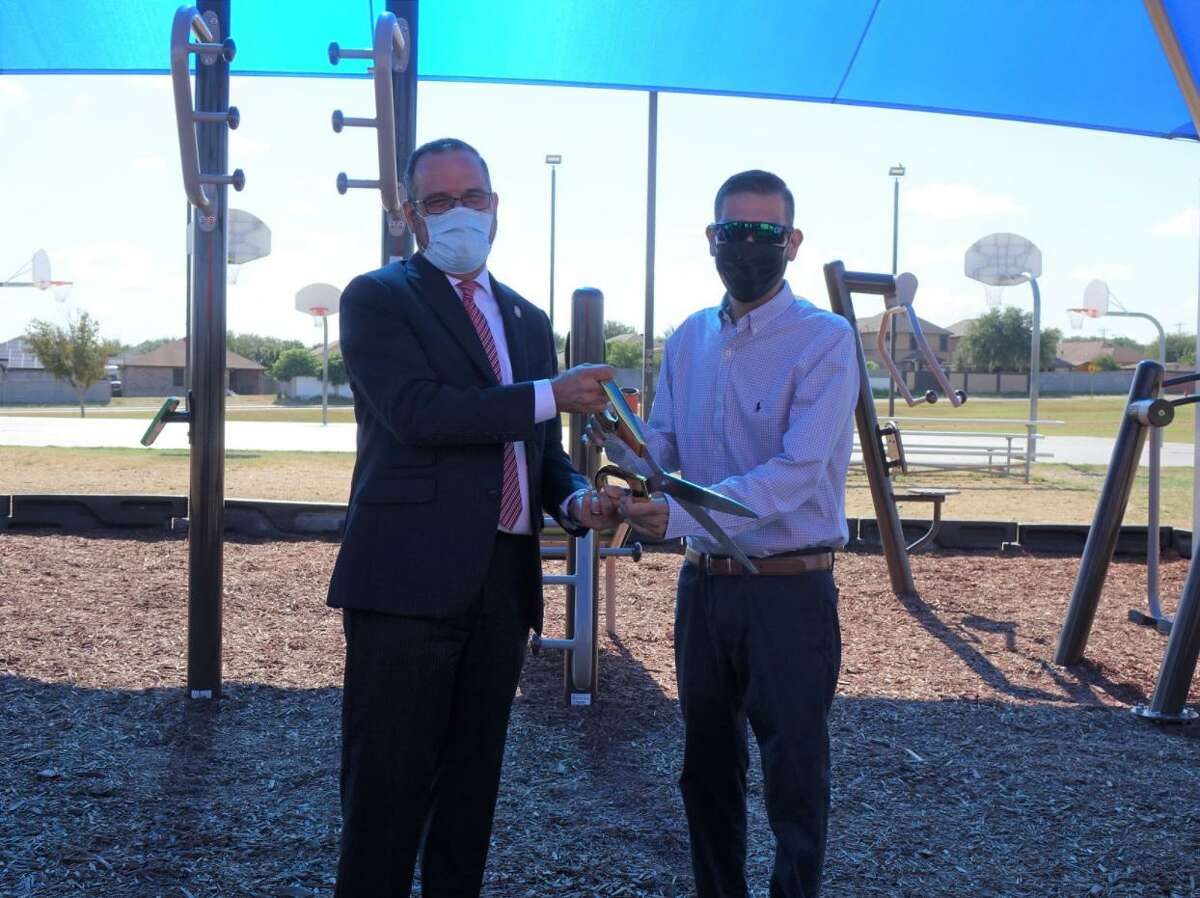 The City of Laredo and City Manager Robert Eads along with District I Councilmember Rudy Gonzalez Jr. hosted a ribbon-cutting ceremony for the newly-installed exercise equipment area at Independence Hills Park on Thursday. Improvements cost over $58,000.