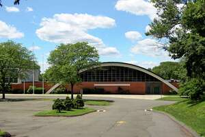 An exterior view of Trinity Catholic School in Stamford, Conn., on Wednesday June 23, 2021. Greenwich Public Schools announced Tuesday would be the alternate location this fall for displaced North Mianus students.