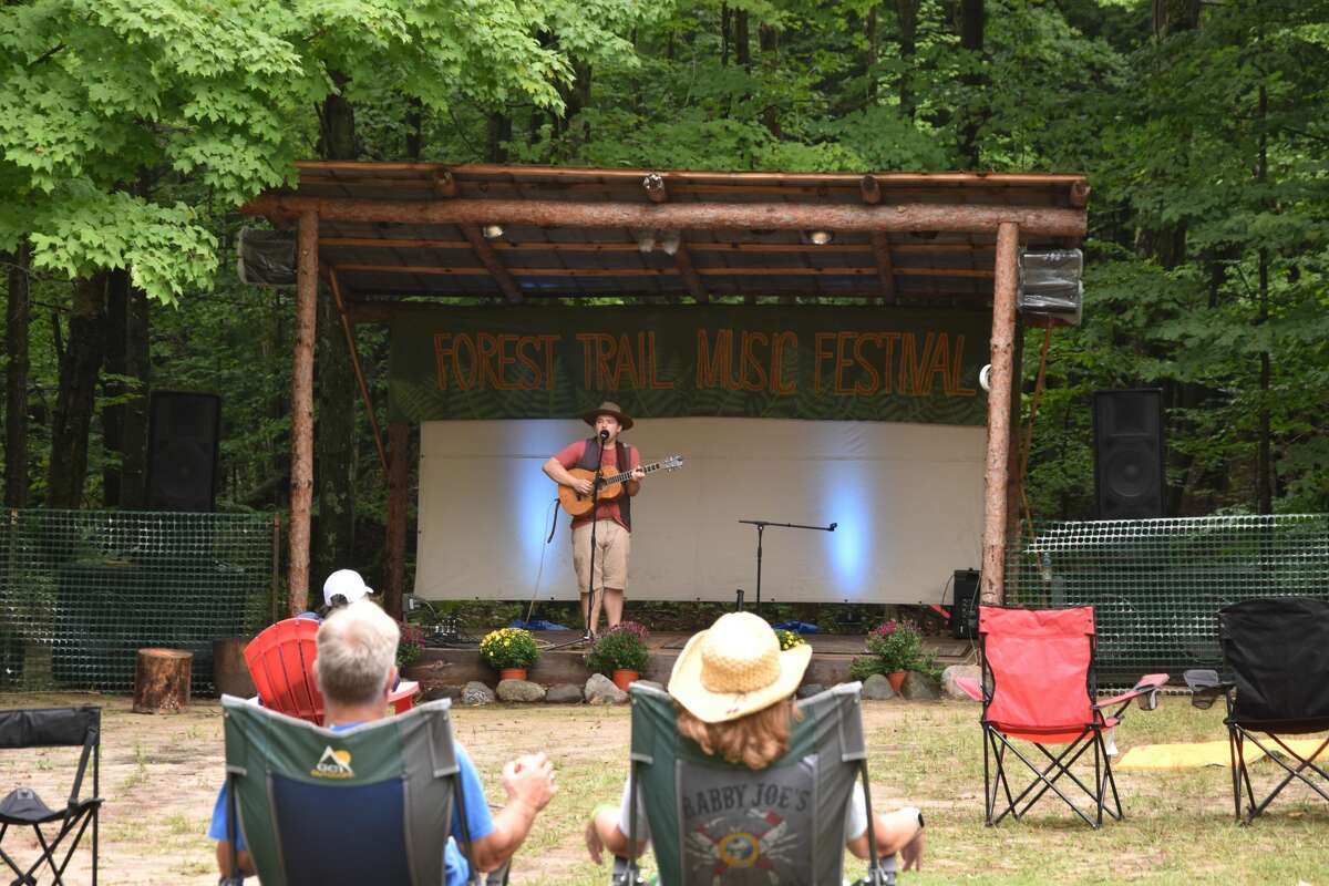 Between 220 to 250 people attended the second annual Forest Trail Music Festival in Free Soil this weekend to hear performances by artists like Ben Traverse.