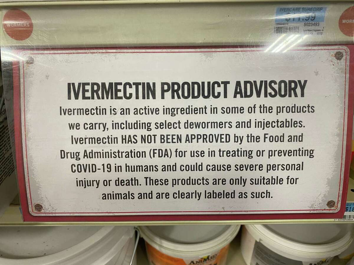 Shelves at the Tractor Supply store in Beaumont normally stocked with livestock medicine containing ivermectin were mostly bare on Aug. 26, 2021, despite warnings from the company that it wasn't suggested for human consumption. Jacob Dick/Beaumont Enterprise