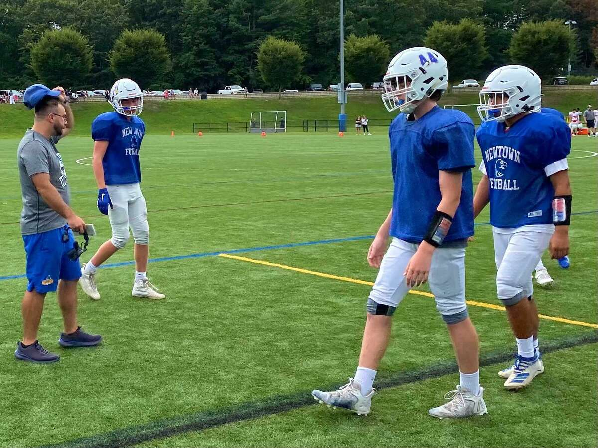 The Newtown football team scrimmaged Greenwich on Saturday, Aug. 28, 2021.