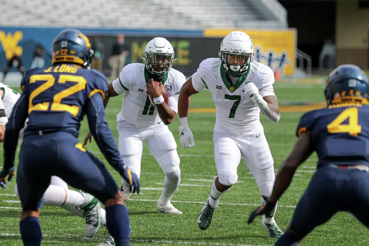Baylor running back John Lovett (7) and Gerry Bohanon (11) will be counted on to lead the offense. The Bears finished 2-7 in coach Dave Aranda's first season.